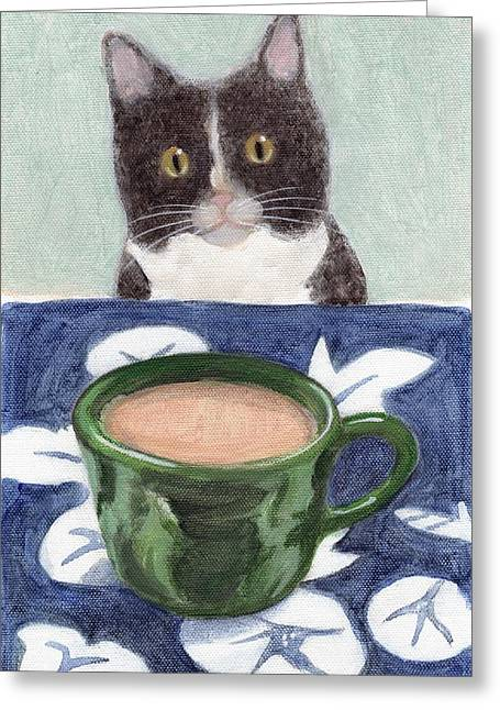 Coffee With Henry #4 Greeting Card