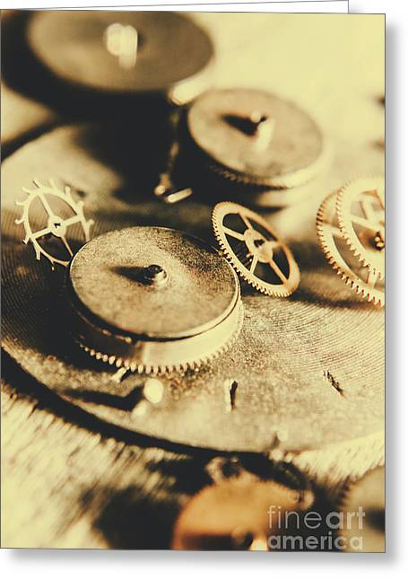 Cog And Gear Workings Greeting Card by Jorgo Photography - Wall Art Gallery