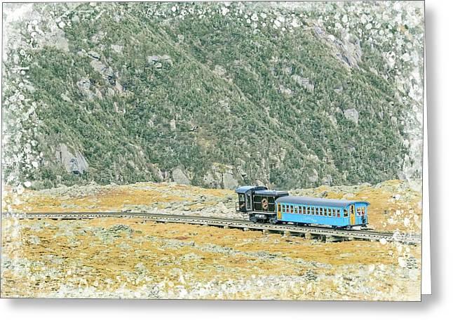 Cog Railroad Train. Greeting Card