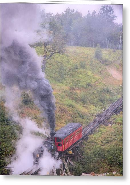 Cog Railway Car Greeting Card
