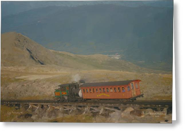 Cog Railway Mount Washington Greeting Card
