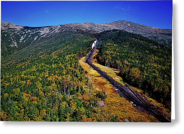 Cog Railway On Mount Washington Greeting Card