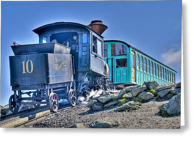 Cog Train Mount Washington Greeting Card