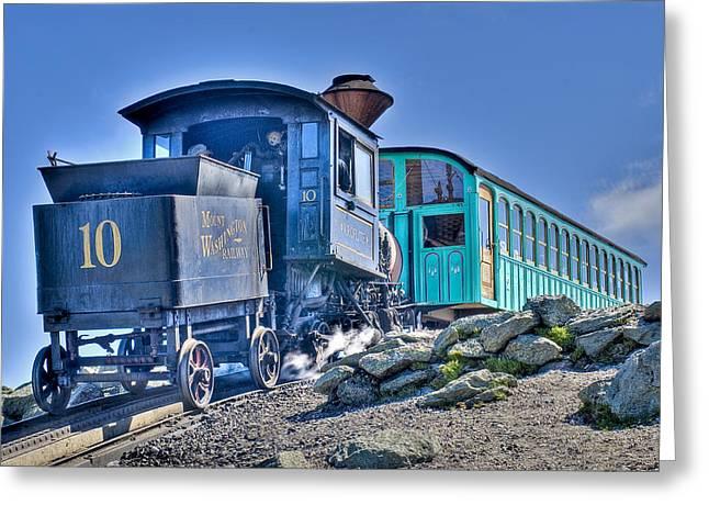 Cog Train Mount Washington Greeting Card by Jim Proctor