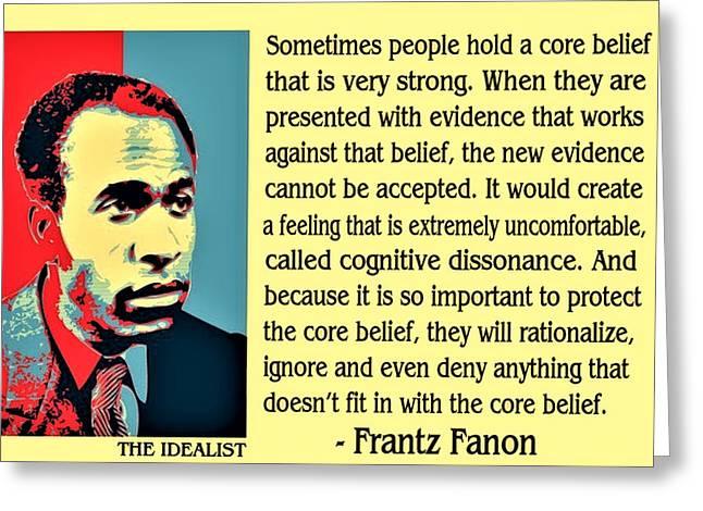 Cognitive Dissonance Frantz Fanon Greeting Card