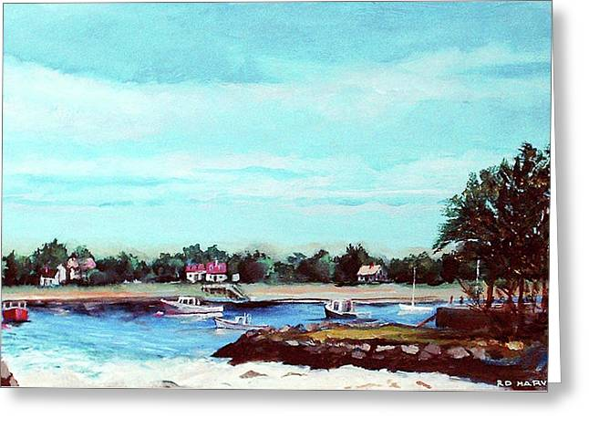 Cohasset Harbor Greeting Card