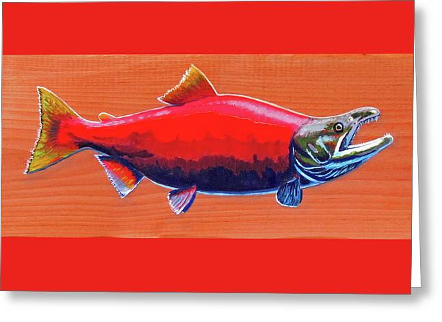 Coho Salmon Greeting Card