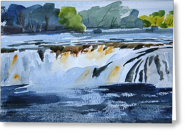 Cohoes Falls Study 2 Greeting Card