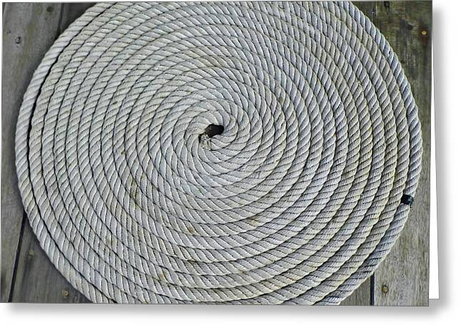 Coiled By D Hackett Greeting Card