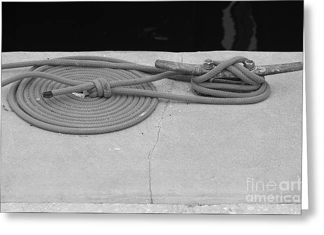 Coiled Rope Greeting Card by Robert Wilder Jr