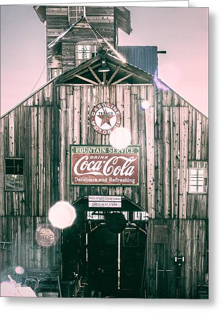 Coke Barn Greeting Card