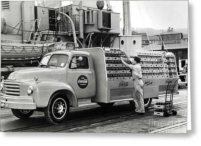 Coke Delivery Truck Greeting Card by Jon Neidert