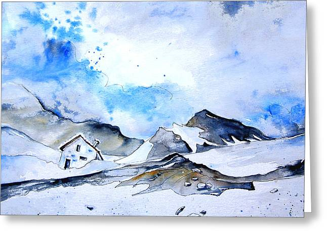 Col Du Pourtalet In The Pyrenees 01 Greeting Card by Miki De Goodaboom