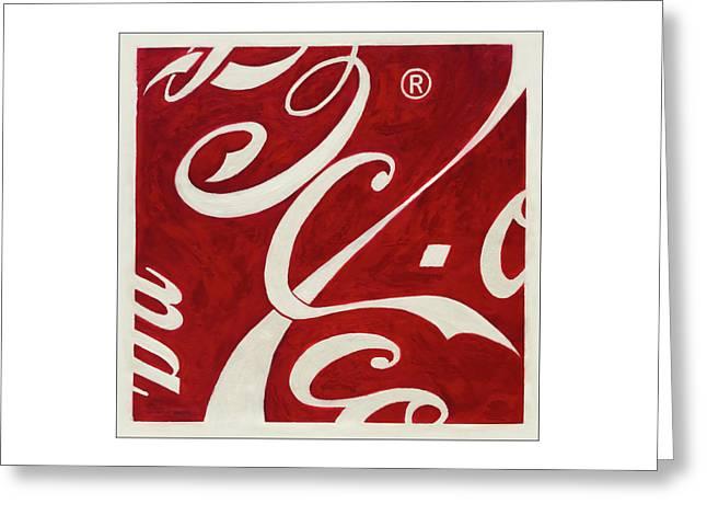 Cola - Coca Greeting Card by Antonio Ortiz