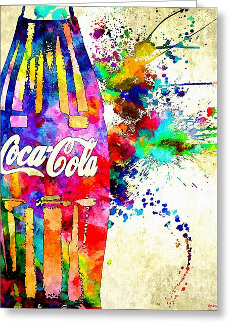 Cola Grunge Greeting Card by Daniel Janda