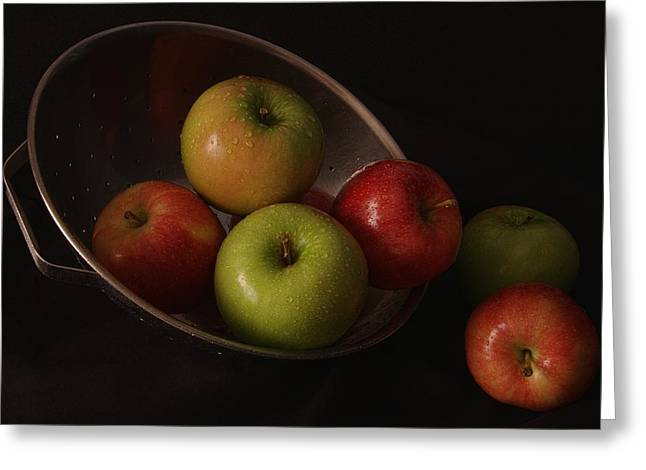 Colander Apples II Greeting Card by Richard Rizzo