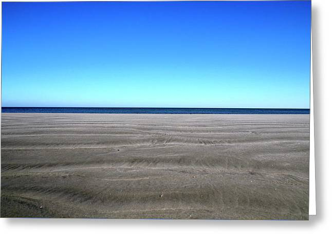 Cold Beach Day Greeting Card