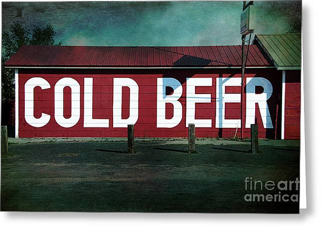 Cold Beer Greeting Card by Terry Rowe