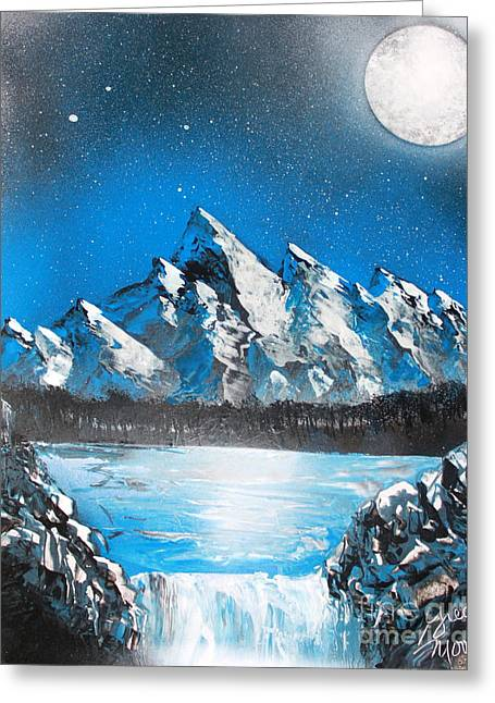 Enhanced Paintings Greeting Cards - Cold Blue Greeting Card by Greg Moores