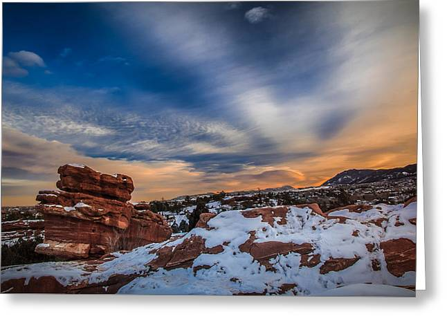 Cold Comfort Greeting Card by Philip Esterle