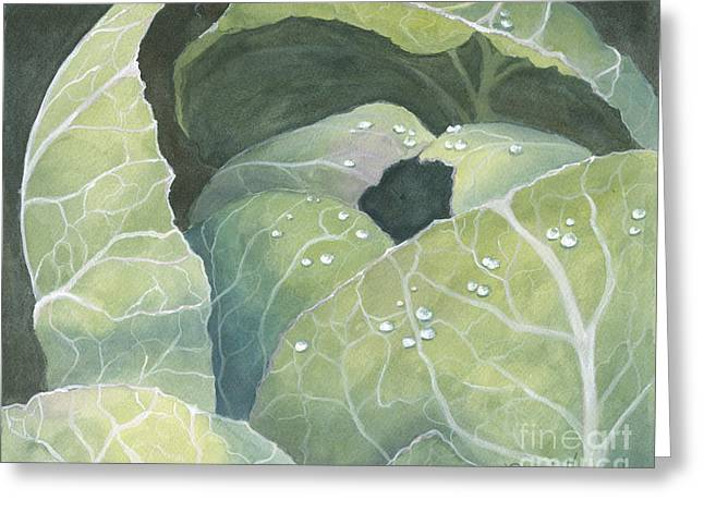Greeting Card featuring the painting Cold Crop by Phyllis Howard