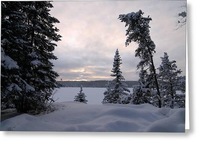 Cold Dawn On Boot Lake Greeting Card