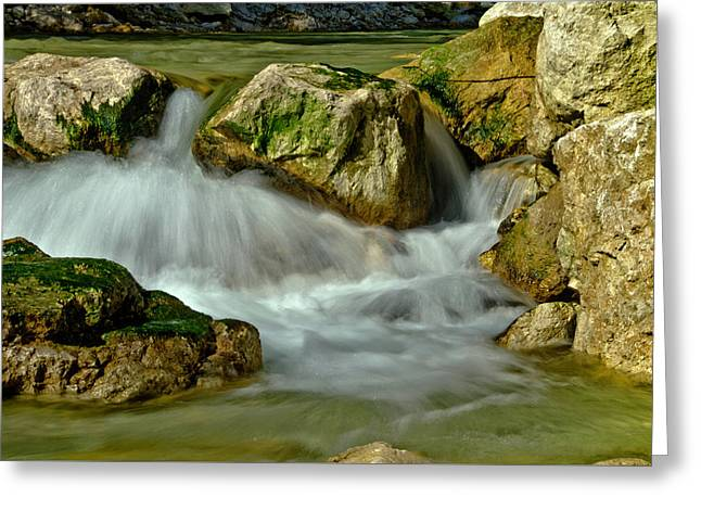 Cold Milky Creek Greeting Card