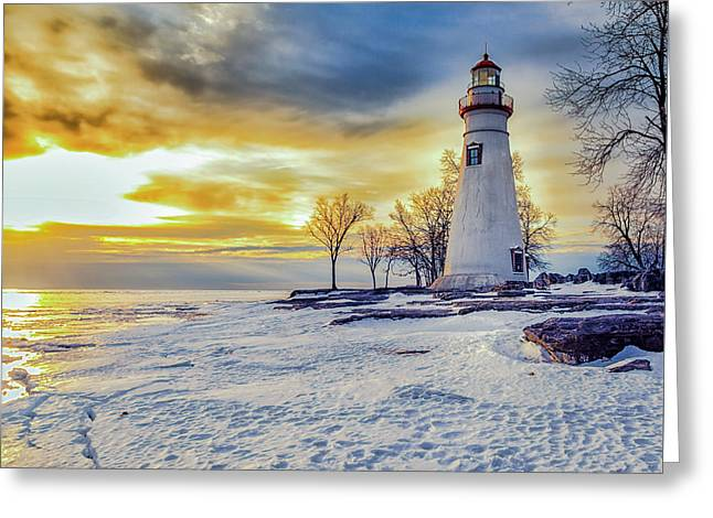 Cold Morning Greeting Card by Jack R Perry