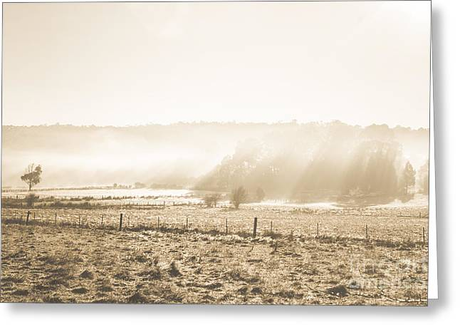 Cold Mysterious Winter Prairie Greeting Card