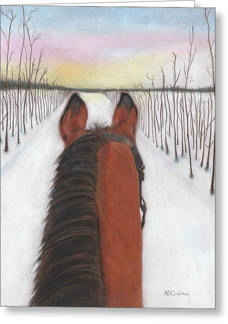 Cold Ride Greeting Card