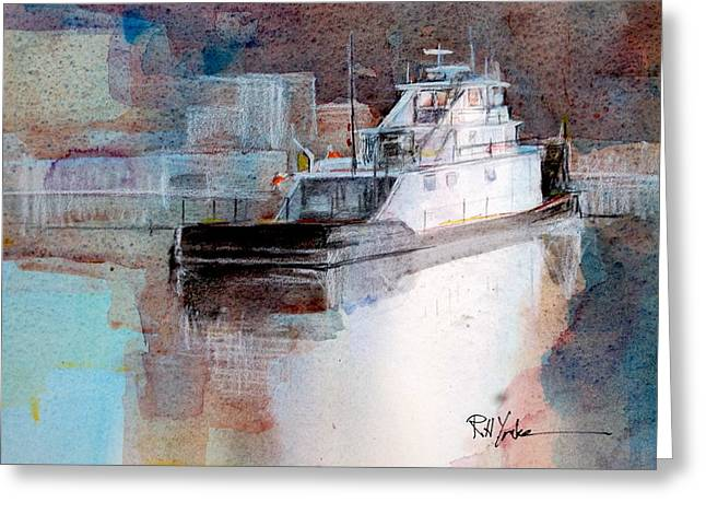 Cold River Greeting Card by Robert Yonke