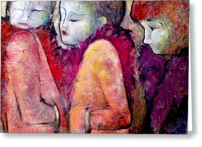 Cold Shoulders Greeting Card by Eleatta Diver