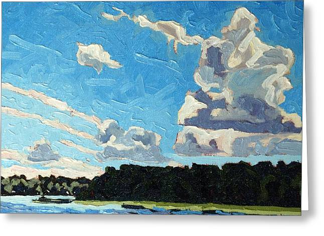 Cold Side Cumulus Greeting Card by Phil Chadwick