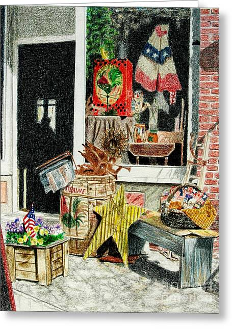 Cold Spring Window Right Greeting Card
