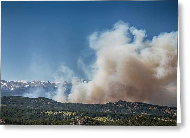 Cold Springs Fire Boulder County Colorado Greeting Card