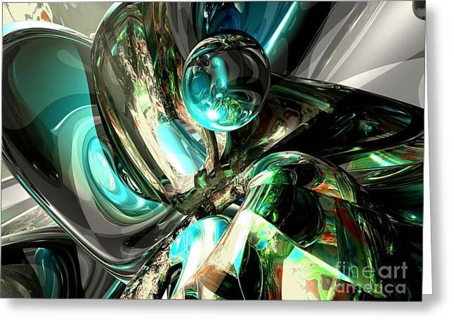 Cold Turmoil Abstract Greeting Card by Alexander Butler