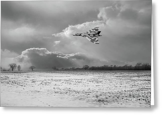 Greeting Card featuring the photograph Cold War Warrior Bw Version by Gary Eason
