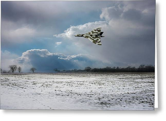 Greeting Card featuring the photograph Cold War Warrior by Gary Eason