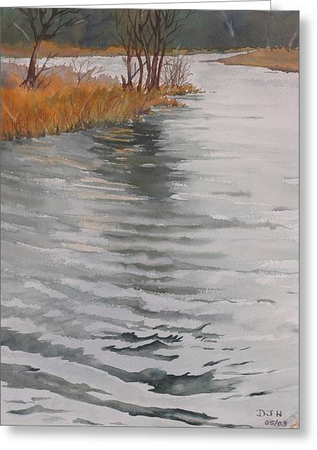 Cold Water Greeting Card by Debbie Homewood