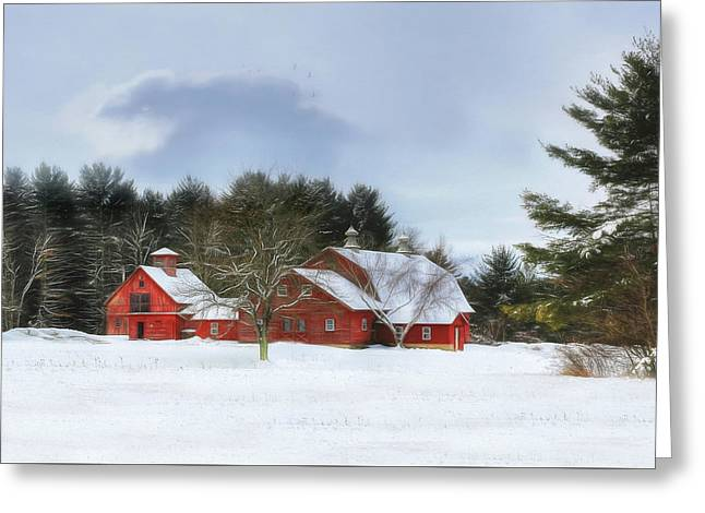 Cold Winter Days In Vermont Greeting Card