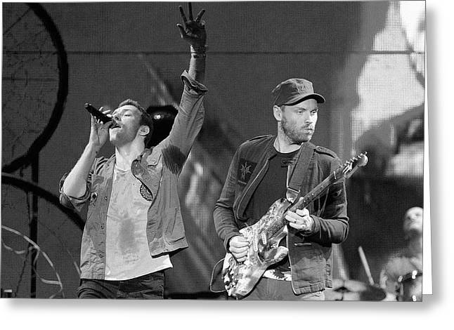 Coldplay 14 Greeting Card by Rafa Rivas