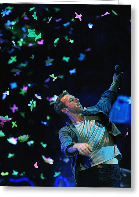 Coldplay1 Greeting Card by Rafa Rivas