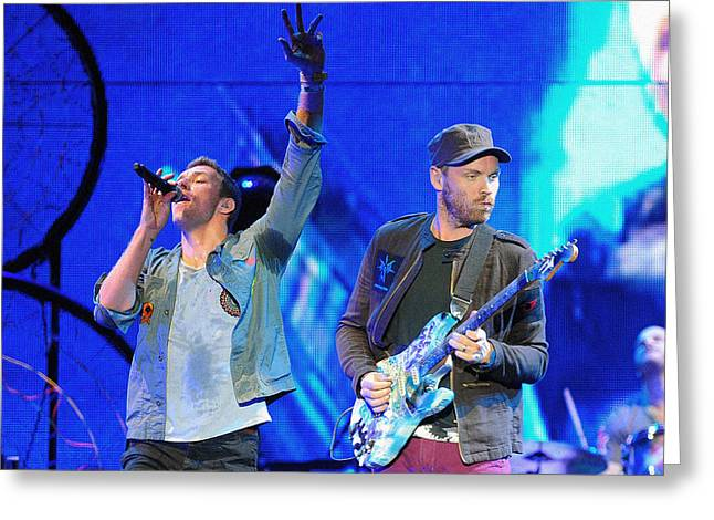 Coldplay6 Greeting Card by Rafa Rivas