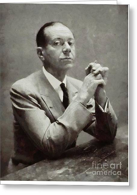 Cole Porter, Composer By Sarah Kirk Greeting Card by Sarah Kirk