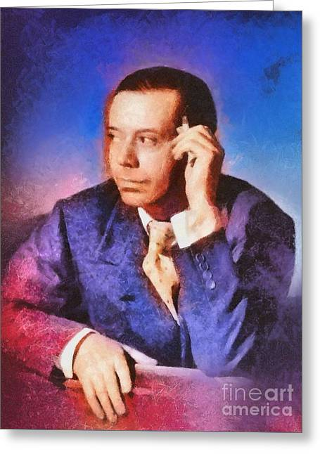 Cole Porter, Music Legend Greeting Card by Mary Bassett