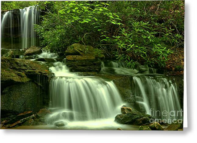 Cole Run Falls Greeting Card