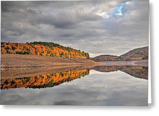Colebrook Reservoir - In Drought Greeting Card