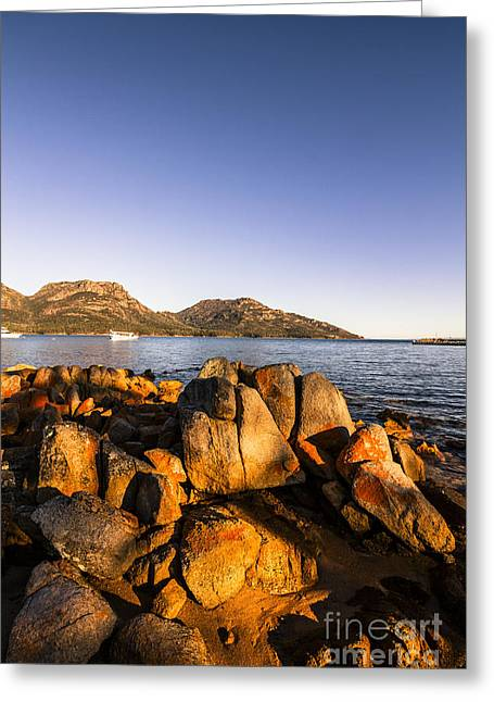 Coles Bay Tasmania Greeting Card by Jorgo Photography - Wall Art Gallery