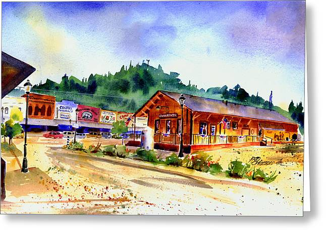 Colfax Rr Junction Greeting Card