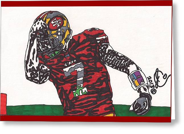 Colin Kaepernick 2 Greeting Card by Jeremiah Colley